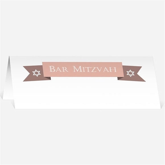 Marque-place bar mitzvah Constellation rose réf.N440305