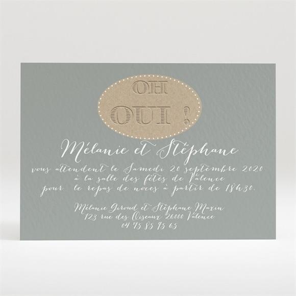 Carton d'invitation mariage Harmonie Beige et marron réf.N120234