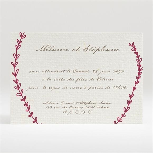 Carton d'invitation mariage Oui encadré original réf.N120235