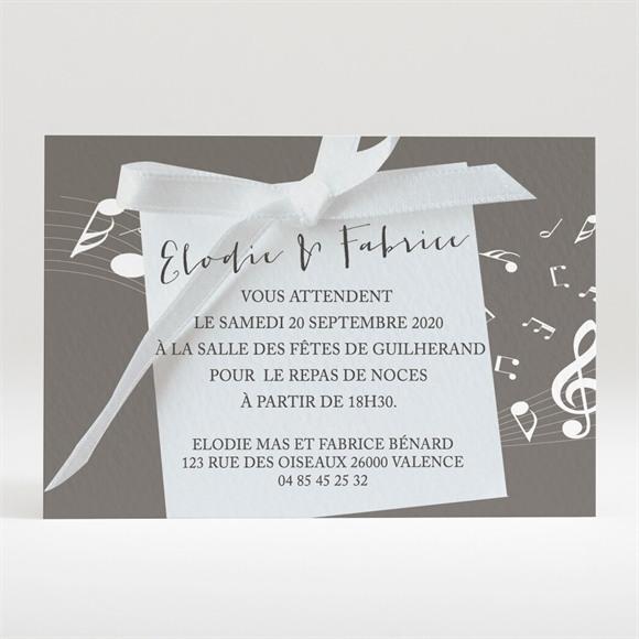 Carton d'invitation mariage Notre Belle Mélodie réf.N120236