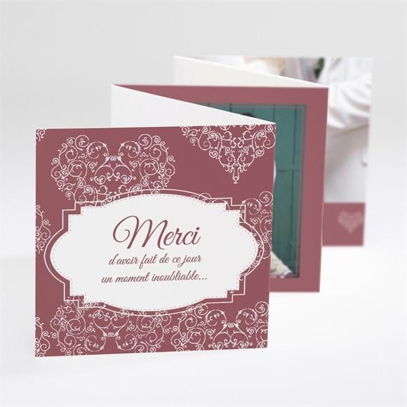 Remerciement mariage Coeurs champêtres réf.N80034