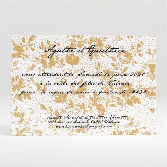 Carton d'invitation mariage Jolis motifs végétaux réf.N120238