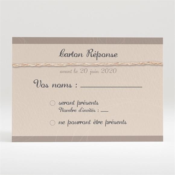 Carton réponse mariage le Duo réf.N120240