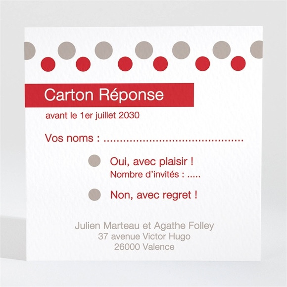 Carton réponse mariage Humour original réf.N300294