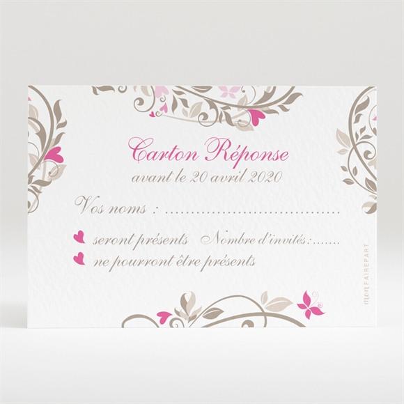 Carton réponse mariage Coeur arabesque réf.N120241