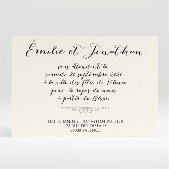 Carton d'invitation mariage Nous deux réf.N120243