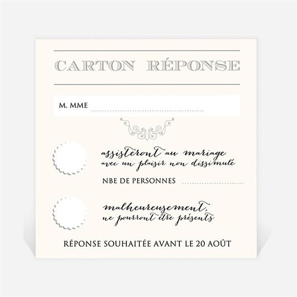 Carton réponse mariage Nous deux réf.N300301