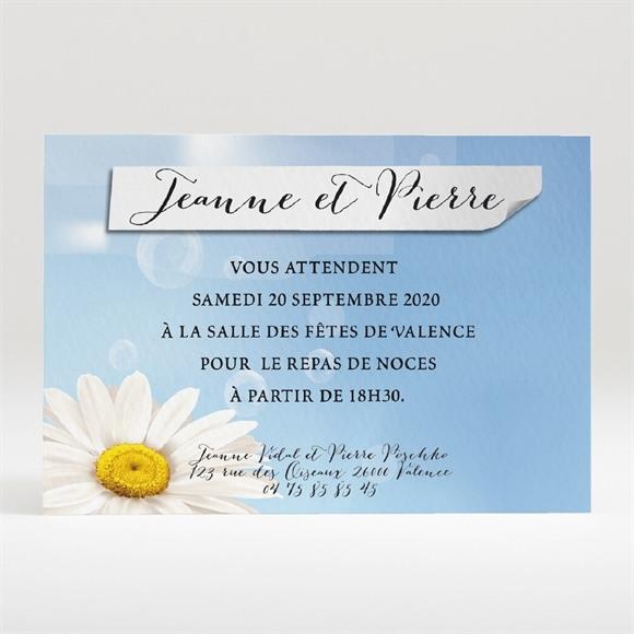 Carton d'invitation mariage Jolie Marguerite ! réf.N120245