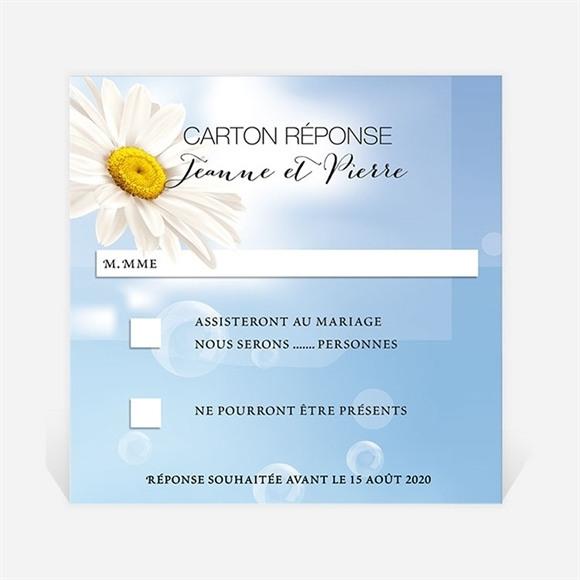 Carton réponse mariage Jolie Marguerite ! réf.N300303