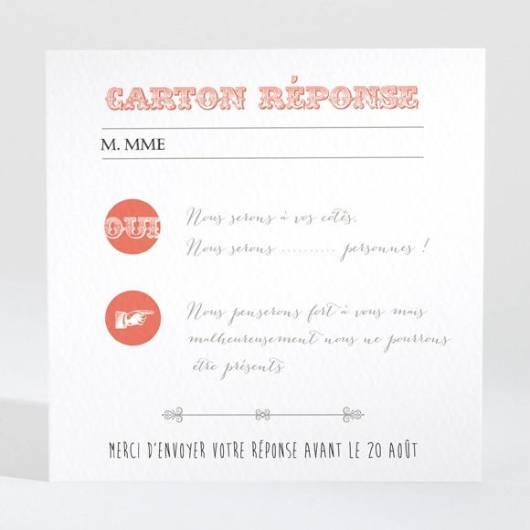 Carton réponse mariage Vintage & original réf.N300305