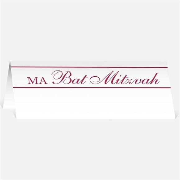 Marque-place bar mitzvah Etapes roses réf.N440317