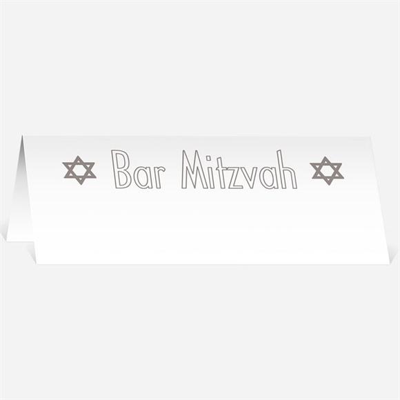 Marque-place bar mitzvah Ornements d'étoiles réf.N440319