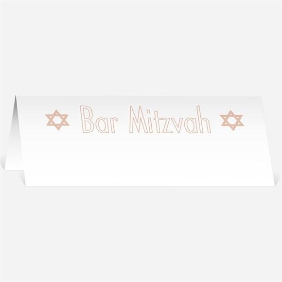 Marque-place bar mitzvah Invitation étoilée torah réf.N440320