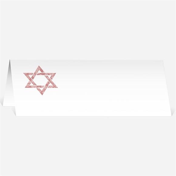 Marque-place bar mitzvah Etoile de David réf.N440321