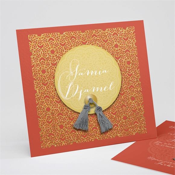Faire-part mariage Medaillon couleurs d'automne réf.N31178