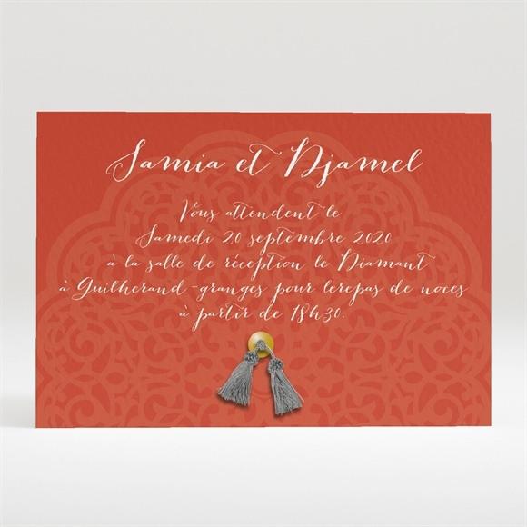 Carton d'invitation mariage Medaillon couleurs d'automne réf.N120248