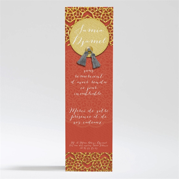 Remerciement mariage Medaillon couleurs d'automne réf.N200284
