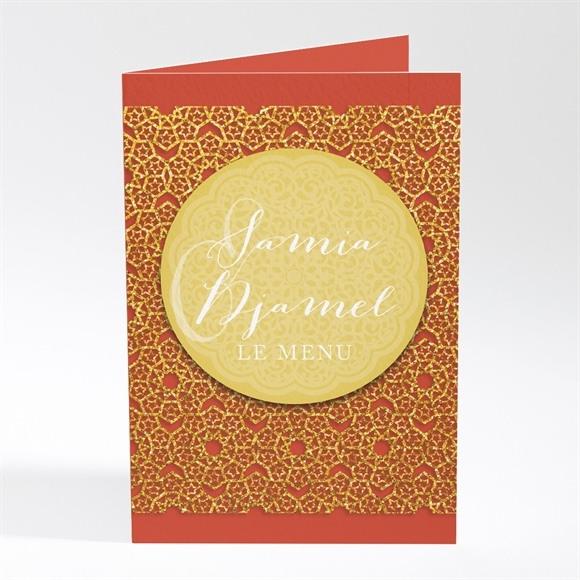 Menu mariage Medaillon couleurs d'automne réf.N401378