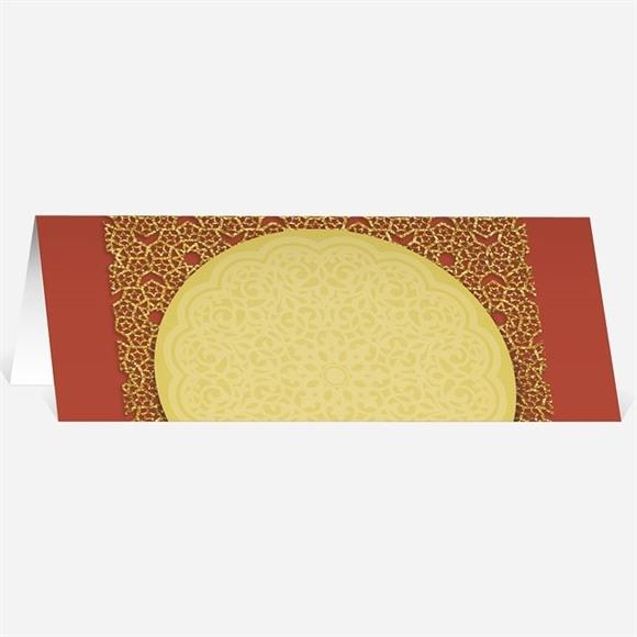 Marque-place mariage Medaillon couleurs d'automne réf.N440322