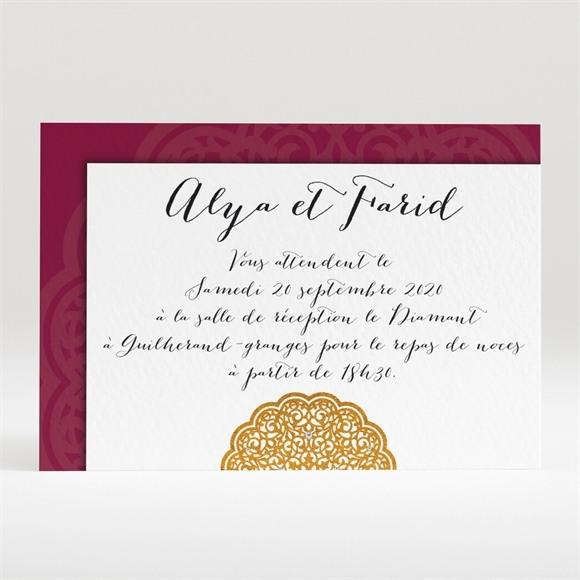 Carton d'invitation mariage Motifs et diamants réf.N120251
