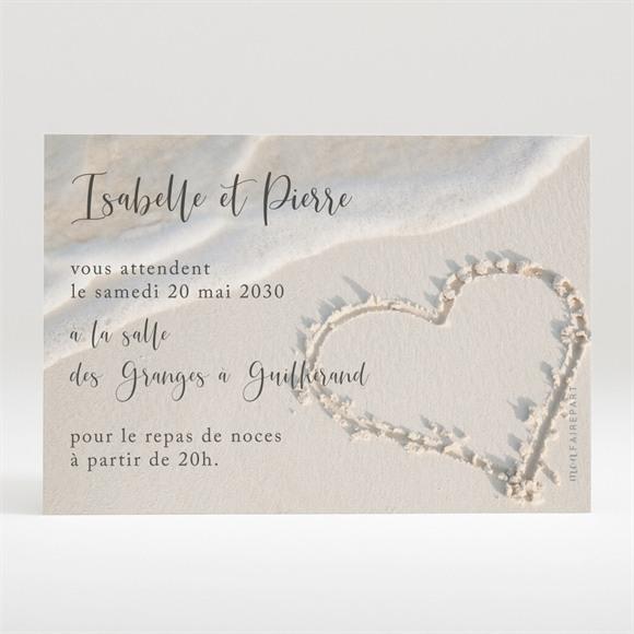 Carton d'invitation mariage Dans le Sable réf.N120253