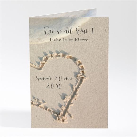 Menu mariage Dans le Sable réf.N401383