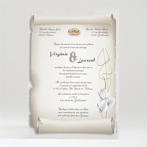 Faire-part mariage Notre Parchemin réf.N24017
