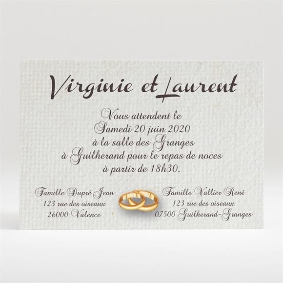 Carton d'invitation mariage Notre Parchemin réf.N120254
