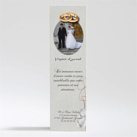 Remerciement mariage Notre Parchemin réf.N200289