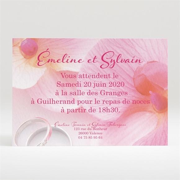 Carton d'invitation mariage Pluie de fleurs réf.N120255