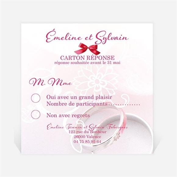 Carton réponse mariage Pluie de fleurs réf.N300313