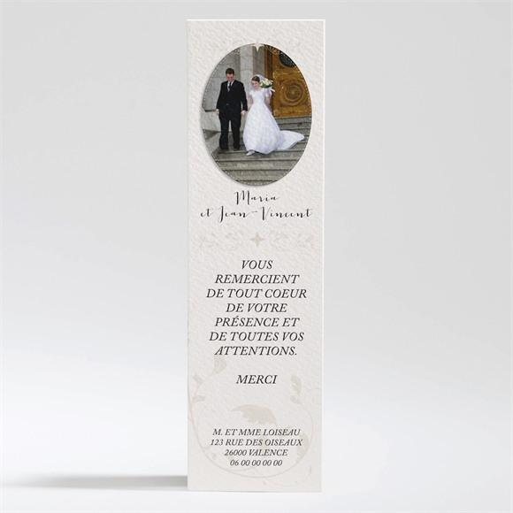 Remerciement mariage Soie et nacré réf.N200290