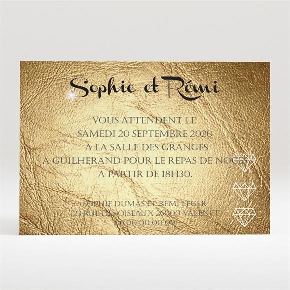 Carton d'invitation mariage le Hasard réf.N120260