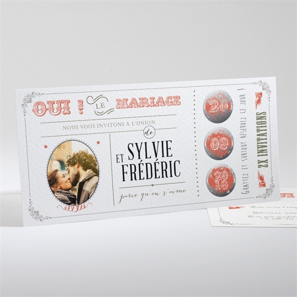 Faire-part mariage Vintage & original réf.N13127