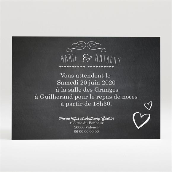 Carton d'invitation mariage Photomaton et ardoise réf.N120261