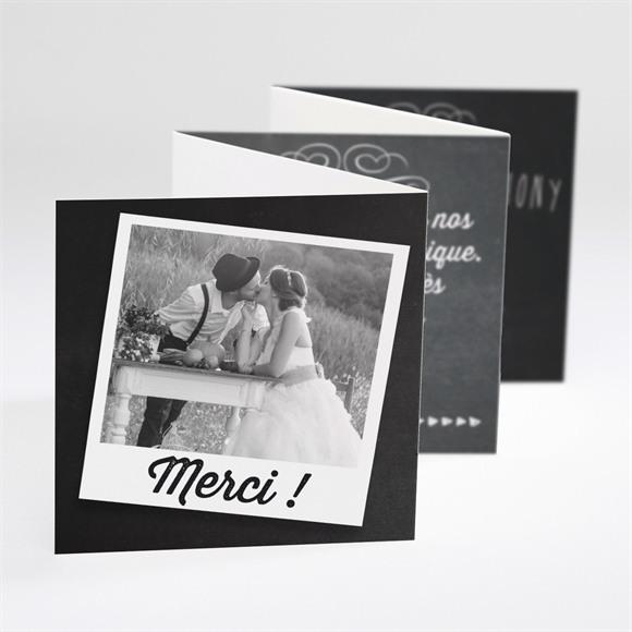 Remerciement mariage Photomaton et ardoise réf.N80049