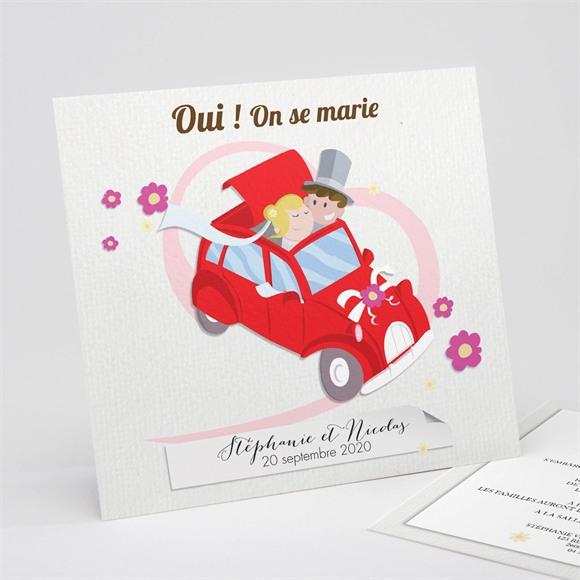 Faire-part mariage En route vers notre Bonheur réf.N31191