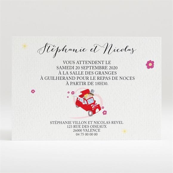 Carton d'invitation mariage En route vers notre Bonheur réf.N120262