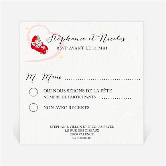 Carton réponse mariage En route vers notre Bonheur réf.N300322