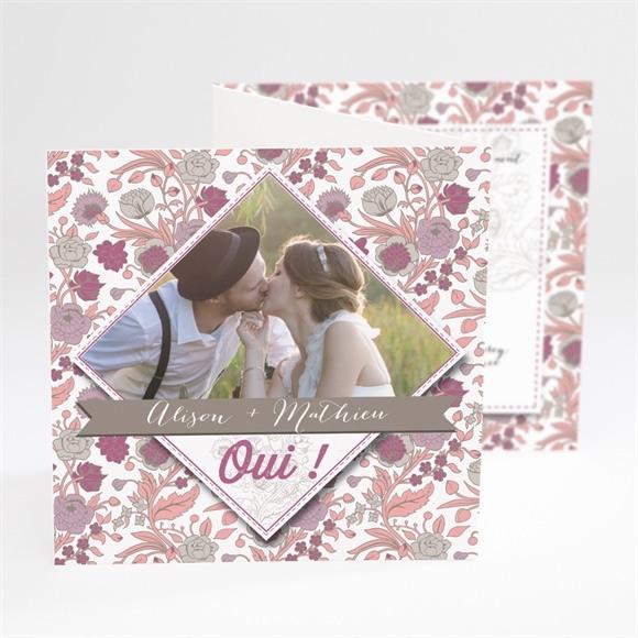 Faire-part mariage Liberty pastel vintage réf.N81033