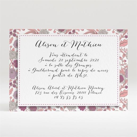 Carton d'invitation mariage Liberty pastel vintage réf.N120263
