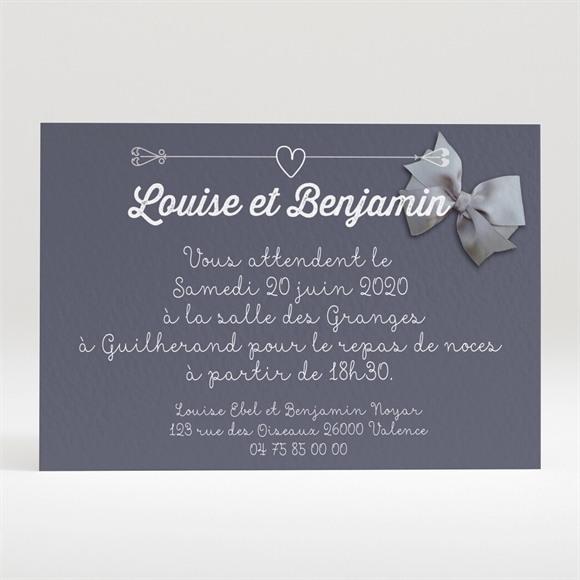 Carton d'invitation mariage Les Amoureux réf.N120264