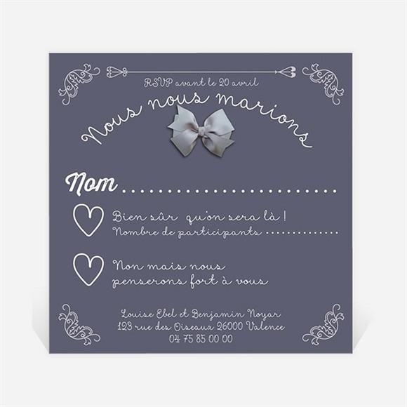 Carton réponse mariage Les Amoureux réf.N300324