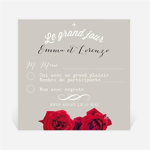 Carton réponse mariage La surprise réf.N300325