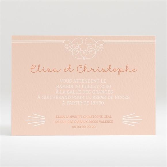 Carton d'invitation mariage Pastel surprise réf.N120266