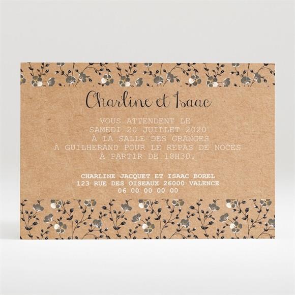 Carton d'invitation mariage Retro chic Liberty réf.N120267