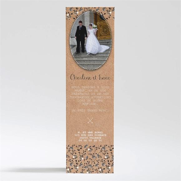 Remerciement mariage Retro chic Liberty réf.N200295