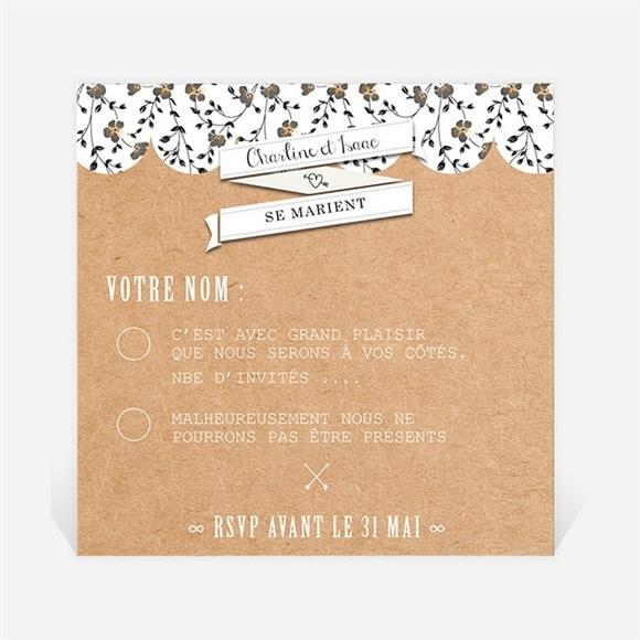 Carton réponse mariage Retro chic Liberty réf.N300327