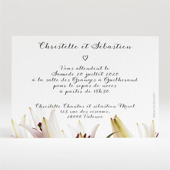 Carton d'invitation mariage Effet Surprise réf.N120268