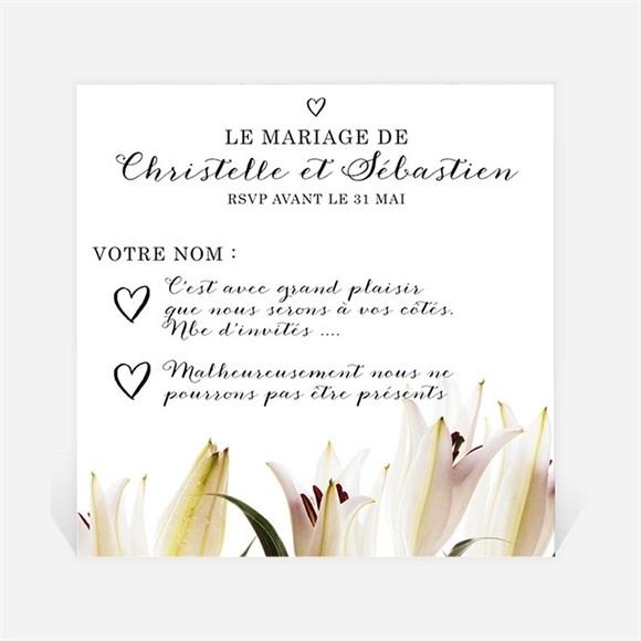 Carton réponse mariage Effet Surprise réf.N300328
